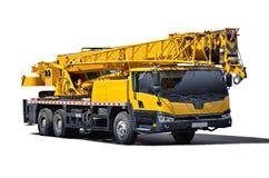 tła żuraw odizolowywający przedmiota ciężarówki biel Zdjęcia Stock