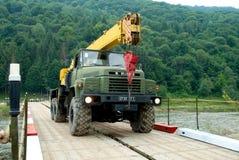 tła żuraw odizolowywający przedmiota ciężarówki biel Obraz Stock