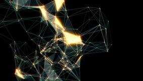 tła abstrakcjonistyczny chodzenie Biel kropki łączyć na czerni royalty ilustracja