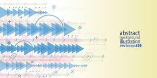 Tła abstrakcjonistyczny geometryczny stubarwny strzała zespoły owija owali/lów krzyże i wykłada wektor ilustracji