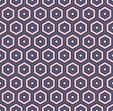 tła abstrakcjonistyczny honeycomb Sześciokąt tafluje mozaiki tapetę Bezszwowy wzór z klasycznym geometrycznym ornamentem ilustracja wektor