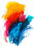 tła abstrakcjonistyczny obraz olejny Olej na brezentowej teksturze Ręka rysująca obraz royalty free