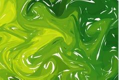 tła abstrakcjonistyczny zielone światło Atrament marmoryzaci tekstury Ręki rysujący marmurowi ilustracje, ebru aqua papier i jedw ilustracji