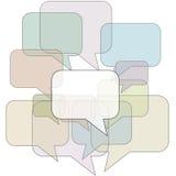 tła bąbla komunikacja zarysowywa mowę ilustracji