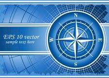 tła błękit kompas wzrastał Fotografia Royalty Free