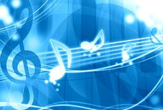 tła błękit muzyka royalty ilustracja