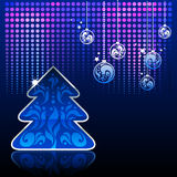 tła błękit nowy rok Zdjęcie Royalty Free
