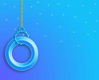 tła błękit odizolowywający pierścionku przestrzeni teksta biel wally Obrazy Royalty Free