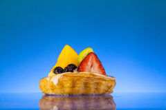 tła błękit owoc tarta Obraz Stock