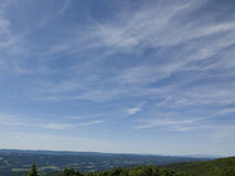 tła błękit pola niebo obraz royalty free
