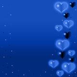 tła błękit serce ilustracja wektor
