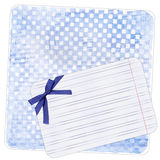 tła błękitny łęku nutowy papier Zdjęcie Stock