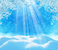 tła błękitny bożych narodzeń chmur kolorów skład zakrywający płatki zadawalają portfolio bogactwo widzią sylwetek nieba śniegu św Zdjęcia Royalty Free