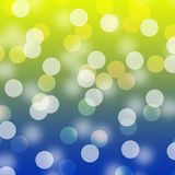 tła błękitny bokeh kolor żółty Obrazy Royalty Free