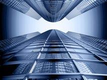 tła błękitny budynku biura niebo Obrazy Royalty Free
