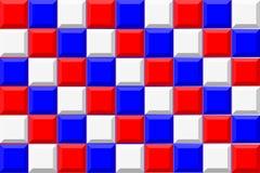 tła błękitny czerwieni biel Obrazy Stock