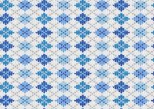 tła błękitny geometryczny dzianiny ornament Fotografia Stock