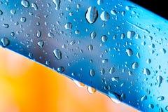 tła błękitny kropel szklana czysta woda Obrazy Royalty Free