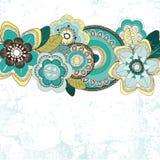 tła błękitny kwiatów ilustraci wektor Obraz Stock