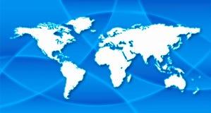 tła błękitny mapy świat royalty ilustracja