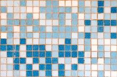 tła błękitny mozaiki biel Obrazy Royalty Free