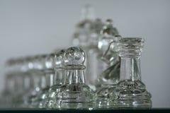 tła błękitny szachowy szkło odizolowywający stonowany biel Obraz Royalty Free