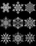 tła błękitny ustalony płatka śniegu wektor royalty ilustracja