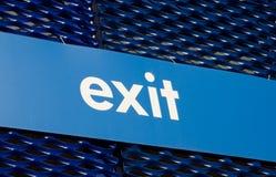 tła błękitny wyjścia znak Obraz Stock