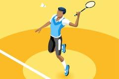 Tła Badminton chłopiec Wektorowa ilustracja ilustracja wektor