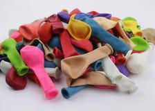 tła balonów kolorowy dekoraci przyjęcia biel Zdjęcie Stock