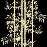 tła bambusowe krańcowe liść macro żyły kwiecista bezszwowa tekstura z liśćmi royalty ilustracja