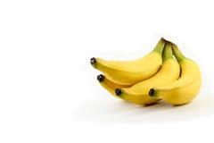 tła bananowej wiązki odosobniony biel Zdjęcie Royalty Free