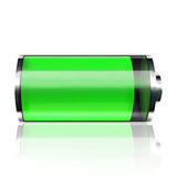 tła bateryjnej ikony odosobniony biel Fotografia Royalty Free