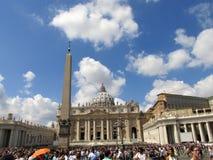 tła bazyliki bernini miasta fontanny Peter Rome s kwadratowy st Vatican Zdjęcie Stock