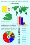 tła bazyliki bernini miasta fontanny Peter Rome s kwadratowy st Vatican Infographics dla prezentaci Wszystkie kraje świat royalty ilustracja