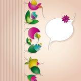 tła beżowa kwiatu etykietka Zdjęcie Stock