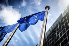 tła Belgium Berlaymont Brussels budynku prowizi europejczyk zaznacza kwatery główne zrzeszeniowe Fotografia Royalty Free