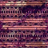 tła bezszwowy geometryczny Grunge skutek Brown w i purpury ilustracja wektor