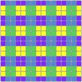 tła bezszwowy geometryczny Kwadrat jest błękitny, zielony, fiołku i kolorze żółty, wektor Obrazy Stock