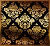 tła bezszwowy kwiecisty złocisty Obraz Stock