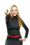 tła białej kobiety potomstwa Fotografia Stock