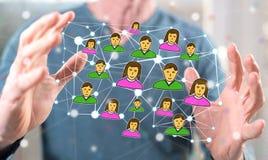 tła binarnego kodu pojęcia grupy sieci ludzie ogólnospołeczni zdjęcie royalty free
