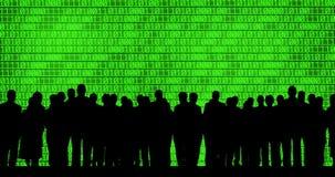 tła binarni biznesowego kodu ludzie ilustracji