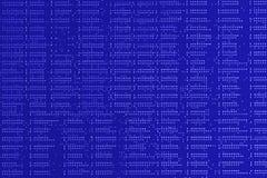 tła binary koduje informatykę Zamyka w górę błękitnej cyfrowej elektronicznej drukowanej obwód deski Lut strona Makro- PCB fotografia stock