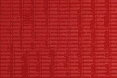 tła binary koduje informatykę Zamyka w górę czerwonej cyfrowej elektronicznej drukowanej obwód deski Lut strona Makro- PCB obrazy stock