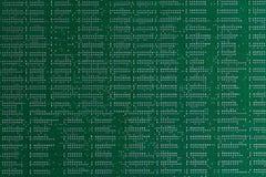 tła binary koduje informatykę Zamyka w górę zielonej cyfrowej elektronicznej drukowanej obwód deski Lut strona Makro- PCB obraz royalty free