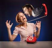 tła biznes odizolowywający nad stresu białą kobietą Fotografia Stock