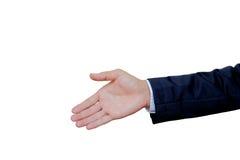 tła biznesmena ręki odosobniony biel Zdjęcia Royalty Free