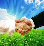 tła biznesowa uścisk dłoni natura zdjęcie royalty free