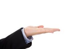 tła bizneswomanu ręki odosobniony biel Obraz Stock